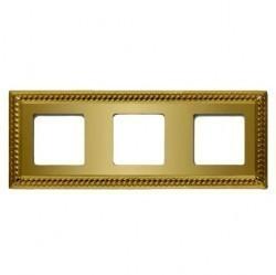 Рамка 3 поста Fede SEVILLA, bright gold, FD01233OB