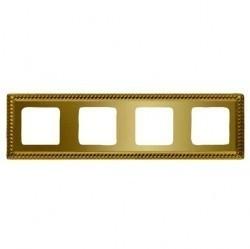 Рамка 4 поста Fede SEVILLA, bright gold, FD01234OB