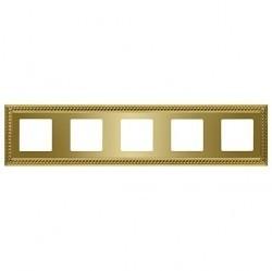 Рамка 5 постов Fede SEVILLA, bright gold, FD01235OB