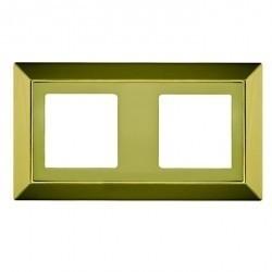 Рамка 2 поста Fede BARCELONA, bright gold, FD01252OB