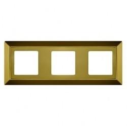 Рамка 3 поста Fede BARCELONA, bright gold, FD01253OB