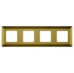 Рамка 4 поста Fede BARCELONA, bright gold, FD01254OB