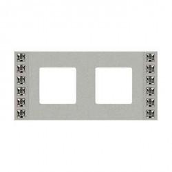 Рамка 2 поста Fede CRYSTAL DE LUXE, bright chrome, FD01262CB