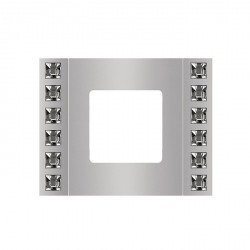 Рамка 1 пост Fede CRYSTAL DE LUXE, bright chrome, FD01271CB