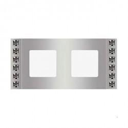 Рамка 2 поста Fede CRYSTAL DE LUXE, bright chrome, FD01272CB