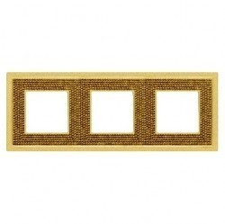 Рамка 3 поста Fede CRYSTAL DE LUXE, real gold, FD01293OR