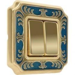 Рамка 1 пост Fede SMALTO ITALIANO, blue sapphire, FD01351AZEN