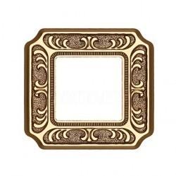 Рамка 1 пост Fede SIENA, bright gold, FD01351OB