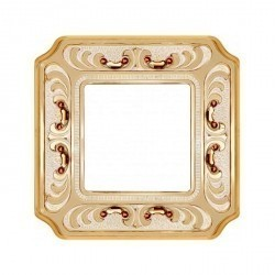 Рамка 1 пост Fede CRYSTAL DE LUXE, gold white patina, FD01351OPCL