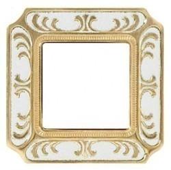 Рамка 1 пост Fede SIENA SMALTO ITALIANO, pearl white, FD01351OPEN