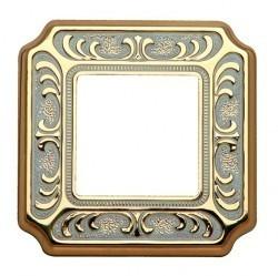 Рамка 1 пост Fede SIENA, gold white patina, FD01351OP