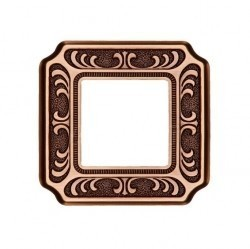 Рамка 1 пост Fede TOSCANA, bright patina, FD01351PB