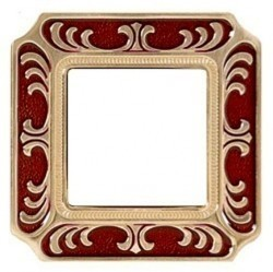 Рамка 1 пост Fede SIENA SMALTO ITALIANO, ruby red, FD01351ROEN