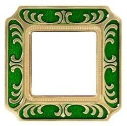 Рамка 1 пост Fede SIENA SMALTO ITALIANO, emerald green, FD01351VEEN