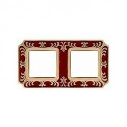 Рамка 2 поста Fede SMALTO ITALIANO, ruby red, FD01352ROEN