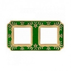 Рамка 2 поста Fede SMALTO ITALIANO, emerald green, FD01352VEEN