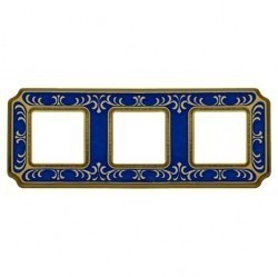 Рамка 3 поста Fede SIENA SMALTO ITALIANO, blue sapphire, FD01353AZEN