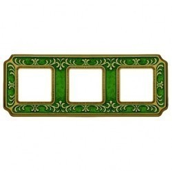 Рамка 3 поста Fede SMALTO ITALIANO, emerald green, FD01353VEEN