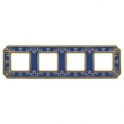 Рамка 4 поста Fede SIENA SMALTO ITALIANO, blue sapphire, FD01354AZEN