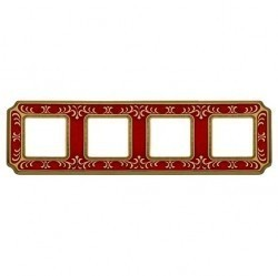Рамка 4 поста Fede SIENA SMALTO ITALIANO, ruby red, FD01354ROEN