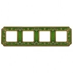 Рамка 4 поста Fede SMALTO ITALIANO, emerald green, FD01354VEEN