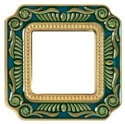 Рамка 1 пост Fede SMALTO ITALIANO, blue sapphire, FD01361AZEN