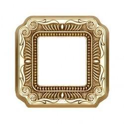Рамка 1 пост Fede FIRENZE, bright gold, FD01361OB