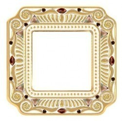 Рамка 1 пост Fede CRYSTAL DE LUXE, gold white patina, FD01361OPCL