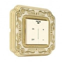Рамка 1 пост Fede FIRENZE, gold white patina, FD01361OP