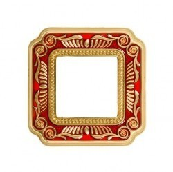 Рамка 1 пост Fede FIRENZE SMALTO ITALIANO, ruby red, FD01361ROEN