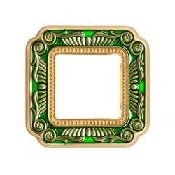 Рамка 1 пост Fede SMALTO ITALIANO, emerald green, FD01361VEEN