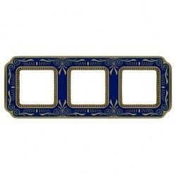 Рамка 3 поста Fede SMALTO ITALIANO, blue sapphire, FD01363AZEN