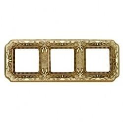 Рамка 3 поста Fede FIRENZE, bright gold, FD01363OB