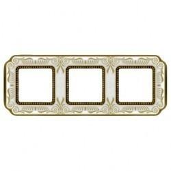 Рамка 3 поста Fede SMALTO ITALIANO, pearl white, FD01363OPEN