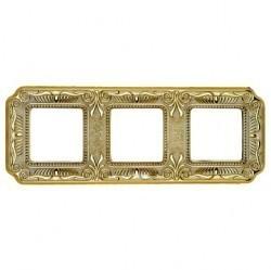 Рамка 3 поста Fede FIRENZE, gold white patina, FD01363OP