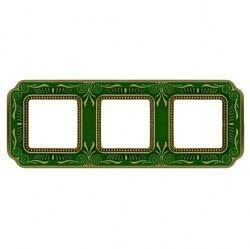 Рамка 3 поста Fede SMALTO ITALIANO, emerald green, FD01363VEEN
