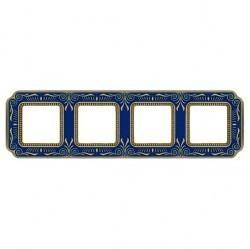 Рамка 4 поста Fede SMALTO ITALIANO, blue sapphire, FD01364AZEN