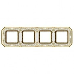 Рамка 4 поста Fede SMALTO ITALIANO, pearl white, FD01364OPEN