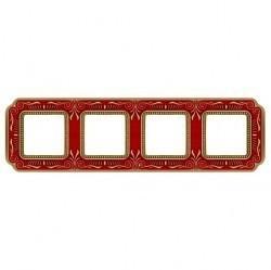 Рамка 4 поста Fede SMALTO ITALIANO, ruby red, FD01364ROEN