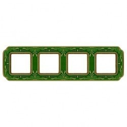 Рамка 4 поста Fede SMALTO ITALIANO, emerald green, FD01364VEEN