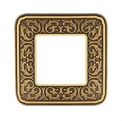 Рамка 1 пост Fede EMPORIO, bright patina, FD01371PB