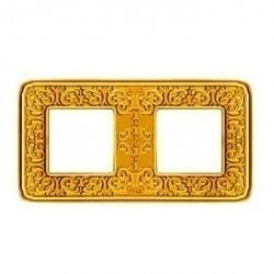 Рамка 2 поста Fede EMPORIO, bright gold, FD01372OB
