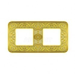 Рамка 2 поста Fede EMPORIO, gold white patina, FD01372OP