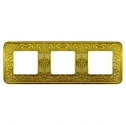 Рамка 3 поста Fede EMPORIO, gold white patina, FD01373OP