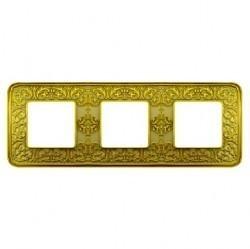 Рамка 3 поста Fede EMPORIO, bright patina, FD01373PB