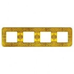 Рамка 4 поста Fede EMPORIO, bright gold, FD01374OB