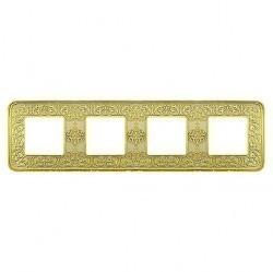 Рамка 4 поста Fede EMPORIO, gold white patina, FD01374OP