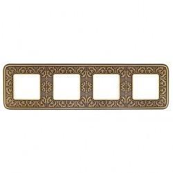 Рамка 4 поста Fede EMPORIO, bright patina, FD01374PB