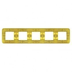 Рамка 5 постов Fede EMPORIO, bright gold, FD01375OB