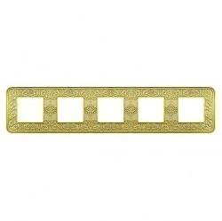 Рамка 5 постов Fede EMPORIO, gold white patina, FD01375OP